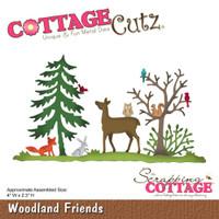 CottageCutz Die - Woodland Friends