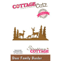 CottageCutz Elites Die - Deer Family Border