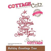 CottageCutz Elites Die - Holiday Greetings Tree
