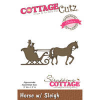 CottageCutz Elites Die - Horse With Sleigh