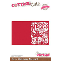 CottageCutz Elites Die - Merry Christmas Notecard