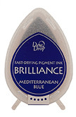 Dew Drop Brilliance Inks - Mediterranean Blue, Matte Finish