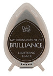 Dew Drop Brilliance Inks - Metallic Lightning Black