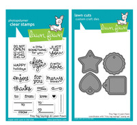 Lawn Fawn Clear Stamps & Dies - Tiny Tag Sayings