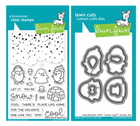 Lawn Fawn Clear Stamps & Dies - Snow Cool