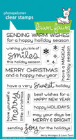 "Lawn Fawn Clear Stamps 4""X6"" - Merry Messages"