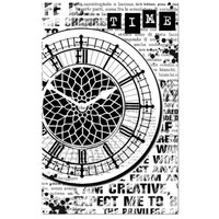 Stamperia High Definition Rubber Stamp - Clock