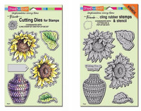 Stampendous Cling Stamps and  Dies Bundle - Sunny Vase