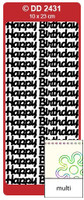 Doodey Peel Off Stickers -  Happy Birthday (Large)  (Multi-Color)