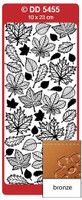 Doodey Peel Off Stickers -  Autumn Leaves  (Bronze)