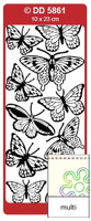 Doodey Peel Off Stickers -  Butterflies (Large) (Multi-Color)