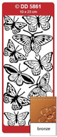 Doodey Peel Off Stickers -  Roses Various  (Bronze)
