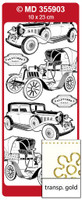 Doodey Peel Off Stickers - Oldtimer Cars (Transparent Gold)
