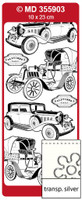 Doodey Peel Off Stickers - Oldtimer Cars (Transparent Silver)