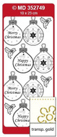 Doodey Mini Card Stickers - Ornament Tags  (Transparent Gold)