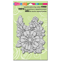 Stampendous Cling Rubber Stamp - Flower Pizazz