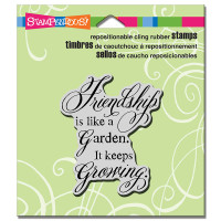 Stampendous Cling Rubber Stamp - Friendship Grows