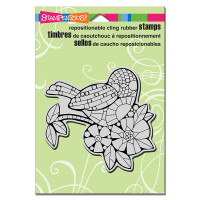 Stampendous Cling Rubber Stamp - Mosaic Bird