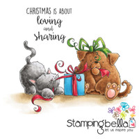Stamping Bella Cling Stamp - Christmas Tug Of War