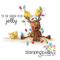 Stamping Bella Cling Stamp - Rudolph, The Christmas Lights And Chick