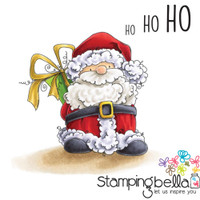 Stamping Bella Cling Stamp - Santa Has A Prezzie