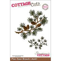 CottageCutz Die - Pine Cone Branch Made Easy