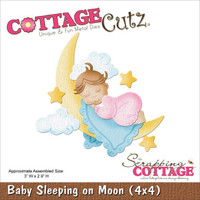CottageCutz Die - Baby Sleeping On Moon