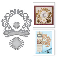 Spellbinders Shapeabilities by Stacey Caron  - Royale Flourish Rouge Royale
