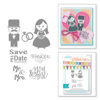 Spellbinder's Celebra'tions Stamps - Save The Date