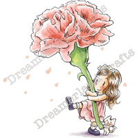 Dreamerland Crafts Cling Stamp - Say Love With Flowers