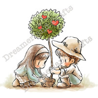 Dreamerland Crafts Cling Stamp - Growing In Love