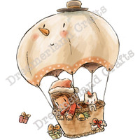 Dreamerland Crafts Cling Stamp - Balloon Ride