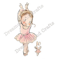 Dreamerland Crafts Cling Stamp - My Favorite Dance Partner