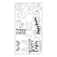 Sizzix Clear Stamps by Lynda Kanase - Hoppy Easter
