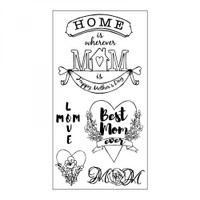 Sizzix Clear Stamps by Jen Long - Best Mom Ever