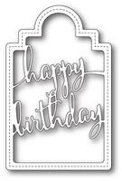 Memory Box Poppystamps Dies - Happy Birthday Tag