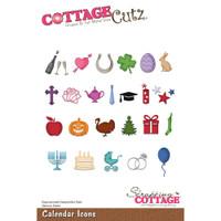CottageCutz Die - Calendar Icons