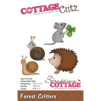 CottageCutz Die - Forest Critters: Hedgehog, Mouse, Snails