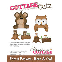 CottageCutz Die - Forest Peekers: Bear & Owl