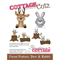 CottageCutz Die - Forest Peekers: Deer & Rabbit