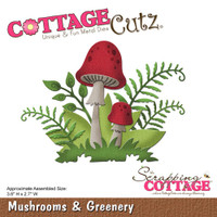 CottageCutz Die - Mushrooms & Greenery