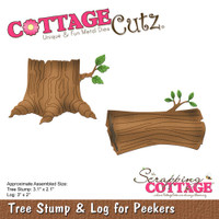 CottageCutz Die - Tree Stump & Log for Peekers: Woodland Cabin