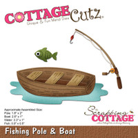 CottageCutz Die - Fishing Pole & Boat