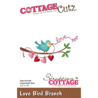 CottageCutz Die - Love Bird Branch