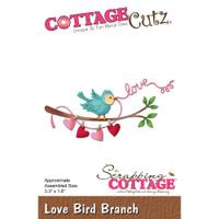 CottageCutz Die - Love Bird Branch