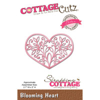 CottageCutz Elites Die - Blooming Heart
