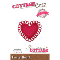 CottageCutz Elites Die - Fancy Heart