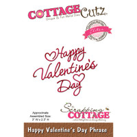CottageCutz Elites Die - Happy Valentine's Day Phrase