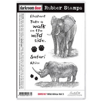 Darkroom Door Cling Stamp: Wild Africa 3