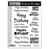 Darkroom Door Cling Stamp: Happy Birthday